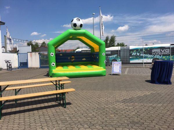 Hüpfburg Fussball mieten MSE-Connection