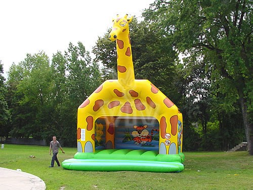 Hüpfburg Giraffe mieten MSE-Connection