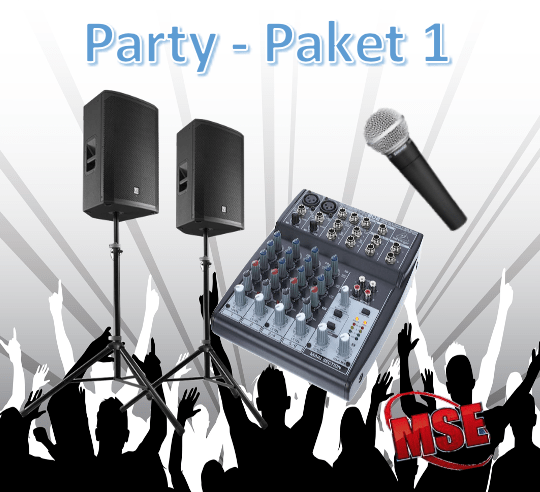 Party Musikanlage Paket 1   MSE-Connection