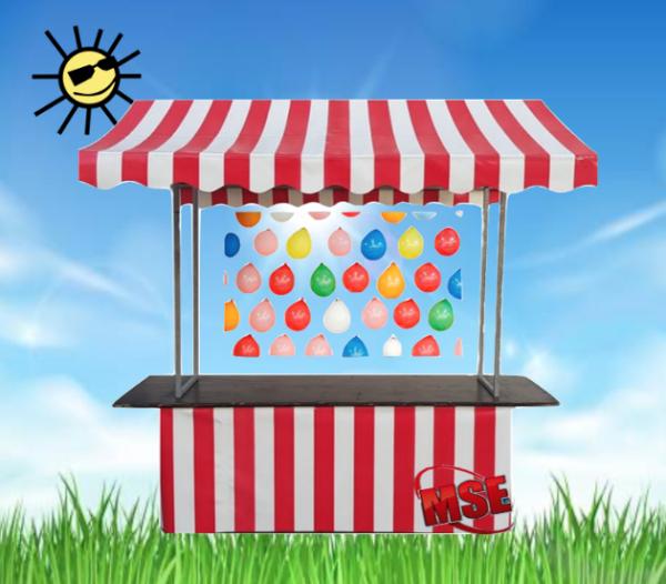 Marktstand Luftballon werfen