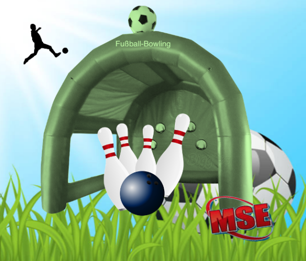 Fussball-Bowling